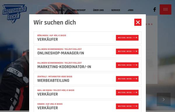 Vorschau von www.motorrad-ecke.de, Die Motorrad Ecke GmbH