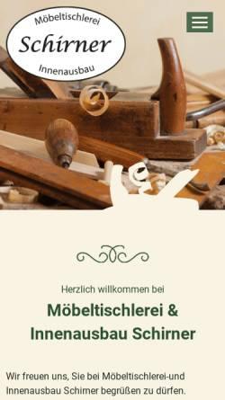 Vorschau der mobilen Webseite www.caravaninnenausbau.de, Möbeltischlerei & Innenausbau Schirner