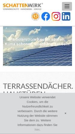 Vorschau der mobilen Webseite www.schattenwerk.de, SCHATTENWERK Hannover