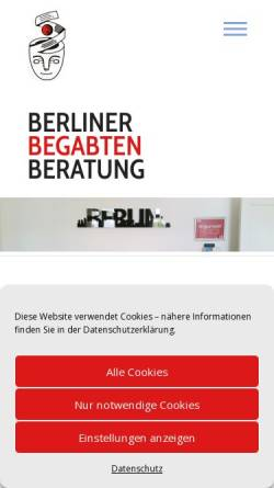 Vorschau der mobilen Webseite berliner-begabten-beratung.de, Berliner Begabten-Beratung