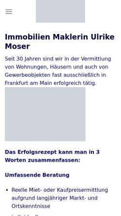 Vorschau der mobilen Webseite immobilienmoser.de, Moser Immobilien Service