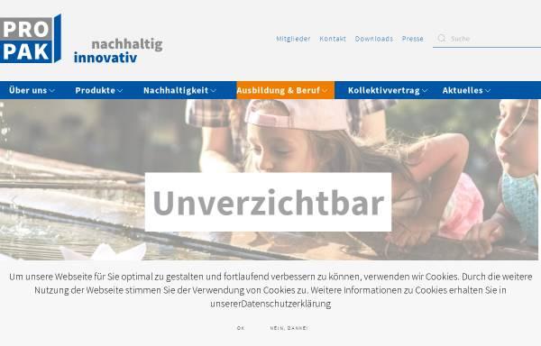 Vorschau von www.ppv.at, PPV, Vereinigung der Papier und Pappe verarbeitenden Industrie, Fachverband