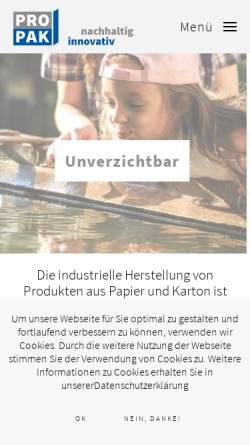 Vorschau der mobilen Webseite www.ppv.at, PPV, Vereinigung der Papier und Pappe verarbeitenden Industrie, Fachverband