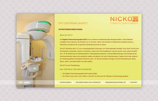 Vorschau von www.dvt-zentrum-lausitz.de, DVT-Zentrum Oberlausitz - Praxis für Zahnheilkunde Dr. med. dent. Marcus Nicko