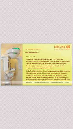 Vorschau der mobilen Webseite www.dvt-zentrum-lausitz.de, DVT-Zentrum Oberlausitz - Praxis für Zahnheilkunde Dr. med. dent. Marcus Nicko