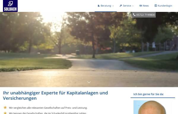 Vorschau von www.makler-solbach.de, Versicherungsmakler Michael Solbach