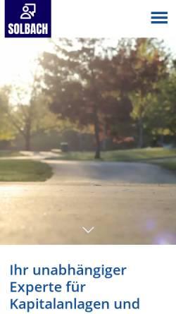 Vorschau der mobilen Webseite www.makler-solbach.de, Versicherungsmakler Michael Solbach