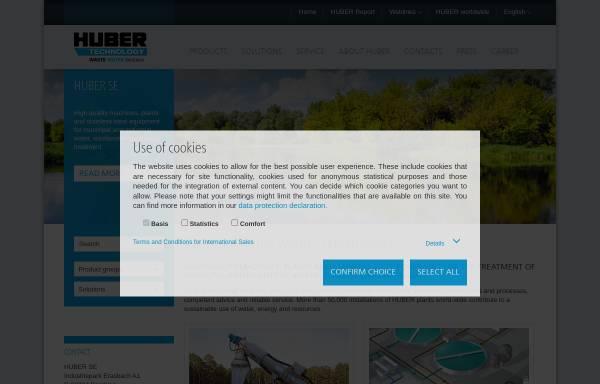 Vorschau von www.huber.de, Hans Huber AG