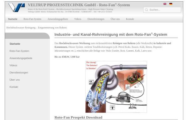 Vorschau von www.veltrup-gmbh.de, Veltrup Prozeßechnik GmbH