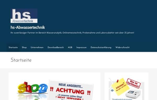 Vorschau von hs-abwassertechnik.de, Abwassertechnik Hilmar Sengler