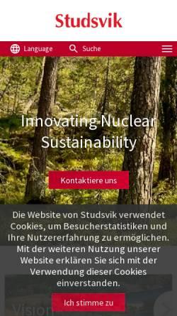 Vorschau der mobilen Webseite www.studsvik.com, Studsvik GmbH & Co. KG