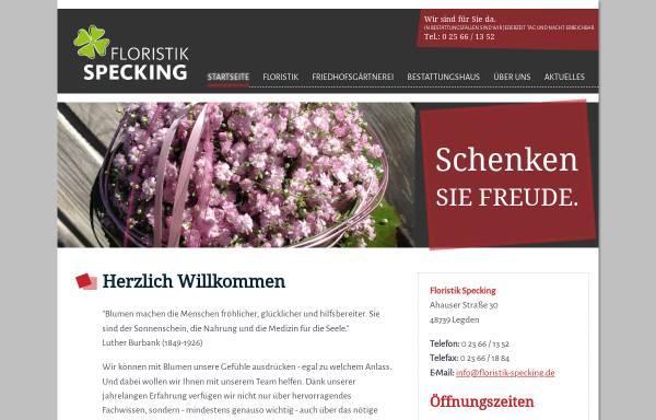 Vorschau von www.floristik-specking.de, Specking Floristik