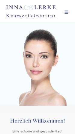 Vorschau der mobilen Webseite www.kosmetikinstitut-lerke.de, Kosmetikinstitut Inna Lerke