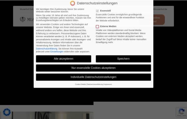 Vorschau von www.musenhof-zahnklinik.de, Musenhof Zahnklinik
