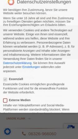 Vorschau der mobilen Webseite www.musenhof-zahnklinik.de, Musenhof Zahnklinik
