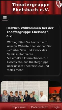 Vorschau der mobilen Webseite www.theatergruppe-ebelsbach.de, Ebelsbach, Theatergruppe