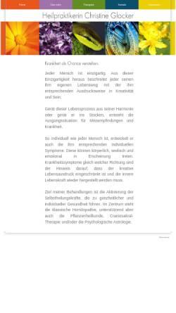 Vorschau der mobilen Webseite heilpraktikerin-glocker.de, Christine Glocker
