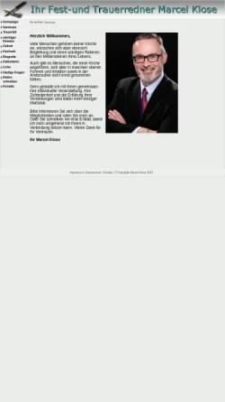 Vorschau der mobilen Webseite www.ungebundener-redner.de, Marcel Klose