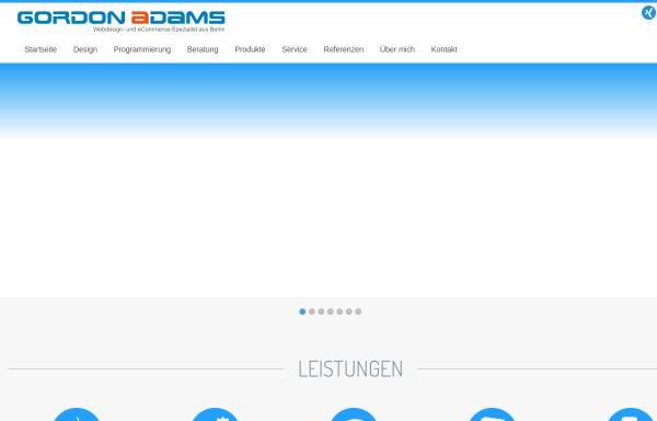Vorschau von www.gordon-adams.com, Gordon Adams - Webdesign- und eCommerce-Spezialist