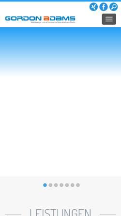 Vorschau der mobilen Webseite www.gordon-adams.com, Gordon Adams - Webdesign- und eCommerce-Spezialist