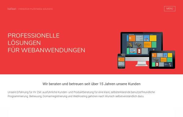 Vorschau von www.karaat.de, kaRaat Multimedia Agentur, Monika Raatz