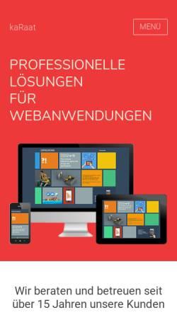 Vorschau der mobilen Webseite www.karaat.de, kaRaat Multimedia Agentur, Monika Raatz