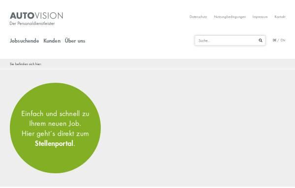 vorschau von wwwautovision gmbhcom autovision gmbh - Autovision Bewerbung