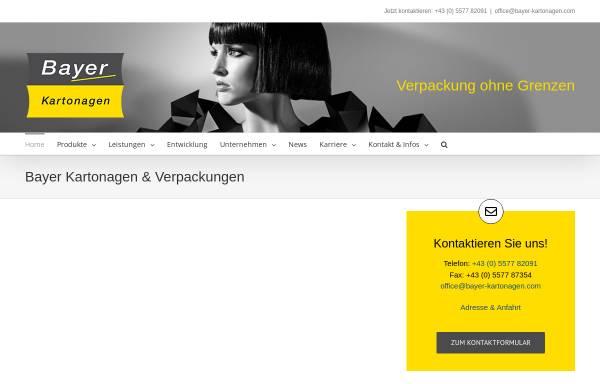 Vorschau von www.bayer-kartonagen.com, Bayer Kartonagen - Josef Bayer Ges.m.b.H. & Co.