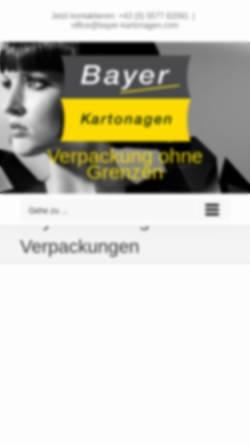 Vorschau der mobilen Webseite www.bayer-kartonagen.com, Bayer Kartonagen - Josef Bayer Ges.m.b.H. & Co.