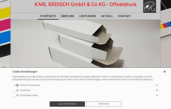 Vorschau von www.karl-raedisch.de, Karl Rädisch GmbH & Co KG Offsetdruck