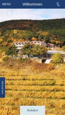 Vorschau der mobilen Webseite www.hausamweinberg.de, Hotel Haus am Weinberg