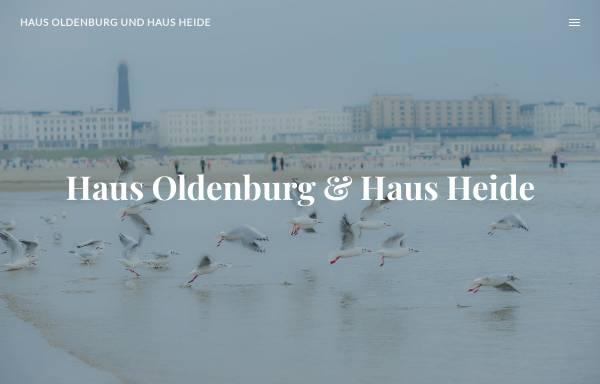 Vorschau von www.haus-oldenburg-borkum.de, Ferienhaus Oldenburg