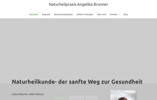 Vorschau von www.brunner-naturheilpraxis.de, Naturheilpraxis Angelika Brunner