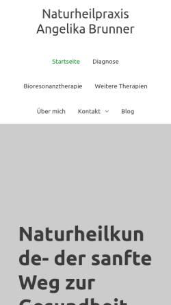 Vorschau der mobilen Webseite www.brunner-naturheilpraxis.de, Naturheilpraxis Angelika Brunner