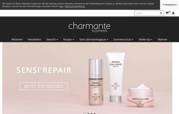 Vorschau von shop.charmantekosmetik.ch, Charmante Kosmetik, Ruth Koller