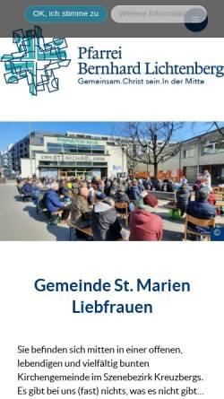 Vorschau der mobilen Webseite marien-liebfrauen.de, St. Marien-Liebfrauen und St. Michael