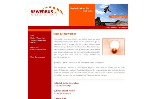 Vorschau von www.bewerbus.de, bewerbus.de - Carmen Dresbach