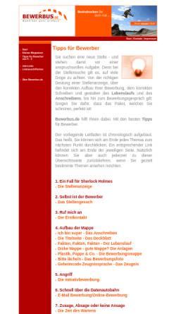 Vorschau der mobilen Webseite www.bewerbus.de, bewerbus.de - Carmen Dresbach