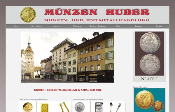 Vorschau von muenzen-huber.ch, Münzen Huber, P.Huber