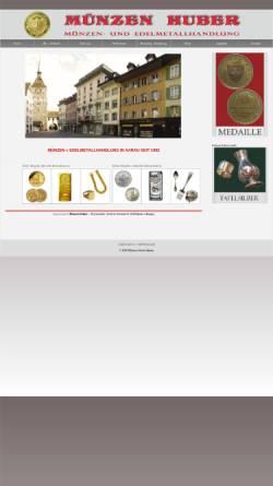 Vorschau der mobilen Webseite muenzen-huber.ch, Münzen Huber, P.Huber