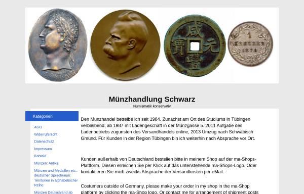 Vorschau von muenzen-schwarz.de, Numismatik konservativ, Karl-Heinz Schwarz