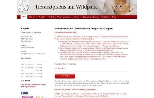 Vorschau von www.tierarztpraxis-am-wildpark.de, Tierarztpraxis am Wildpark