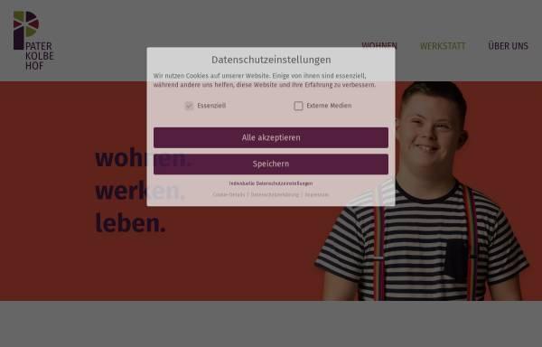Vorschau von www.pater-kolbe-hof.de, Pater-Kolbe-Hof - Wohnheim und Werkstatt für behinderte Menschen in 02788 Schlegel