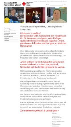 Vorschau der mobilen Webseite wfbm-rowe.de, Rostocker DRK-Werkstätten des DRK-Kreisverbandes Rostock e.V.