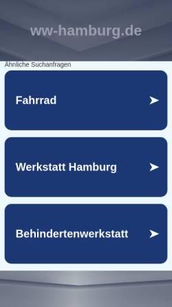 Vorschau der mobilen Webseite www.ww-hamburg.de, Winterhuder Werkstätten GmbH