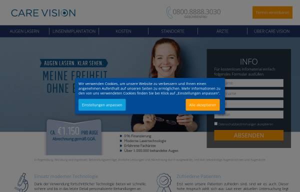 Vorschau von augenlaser.care-vision.de, Care Vision Augenlaserkorrekturen