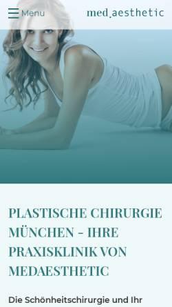 Vorschau der mobilen Webseite www.medaesthetic.de, Med.aesthetic Privatklinik München