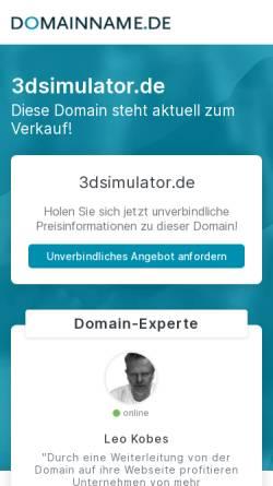Vorschau der mobilen Webseite www.3dsimulator.de, 3 D - Simulatoren - Angewandte Innovative Produkte GmbH