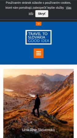 Vorschau der mobilen Webseite www.slovakia.travel, Slovak Tourist Board