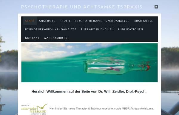 Vorschau von www.willi-zeidler.de, Dr. phil. Willi Zeidler, Dipl.-Psych.
